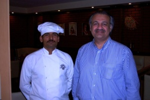 Owner, Arshad Nawaz Khan, and his Chef
