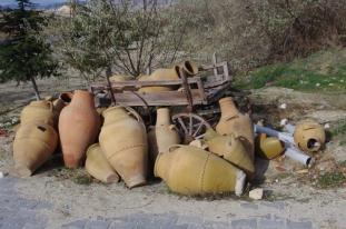 Clay Pots & Wagon