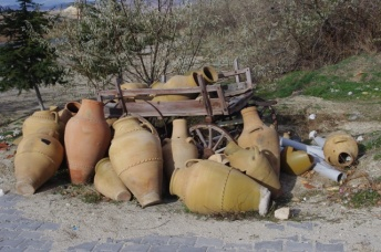 Clay Pots & Wagon