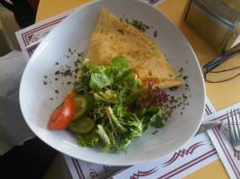 Savory Crepe and Salad