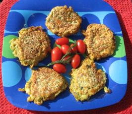 Zucchini Fritters with Feta & Dill