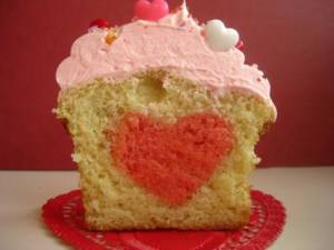 Vanilla Bean Cupcake with a Heart Photo courtesy of Two Chicks Bakery