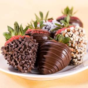 Chocolate Covered Strawberries! Photo courtesy of Two Chicks Bakery