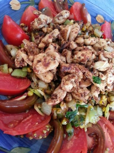 Chipotle Turkey with Charred Corn Salsa