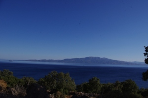 View of the Greek island of Lesbos