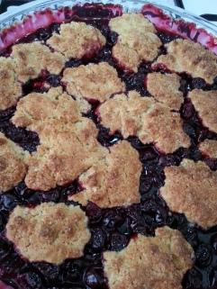 Homemade Cherry Cobbler