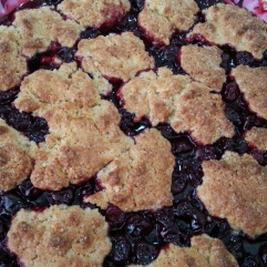 Homemade Cherry Cobbler