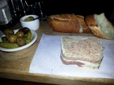 Duck pate!!! Yum! Wrapped in bacon!!!