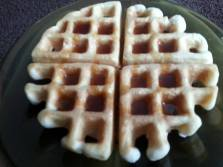 Belgian Waffle with maple Syrup