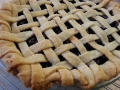 Latticed Blueberry Pie