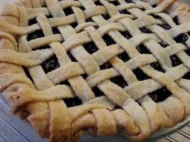 Latticed Blueberry Pie