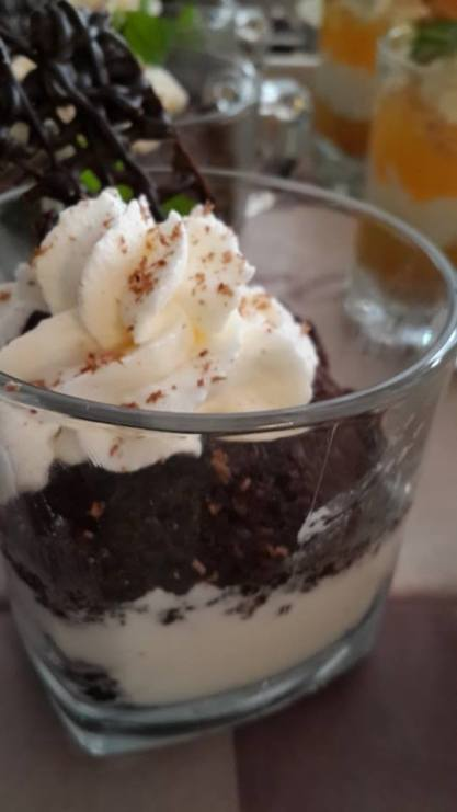 Brownie & Cream Parfait