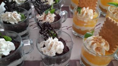 Lemon Curd & Cream with Cookie Crumble Parfait and Brownie & Cream Parfait