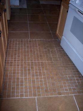 New kitchen tiles