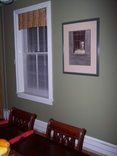 Fresh wall paint and new window treatment