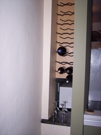 Built in wine rack! Bam!