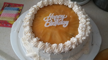 Birthday Cake with Lemon Curd