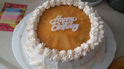 Birthday Cake with Lemon Curd