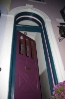 The Victorian colors of the house that I learned to love: pink, aubergine, and teal