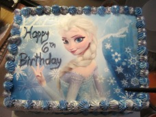 Disney's Elsa Double-Layer Brownie Cake