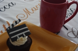 Move-Themed Chocolate Cupcake