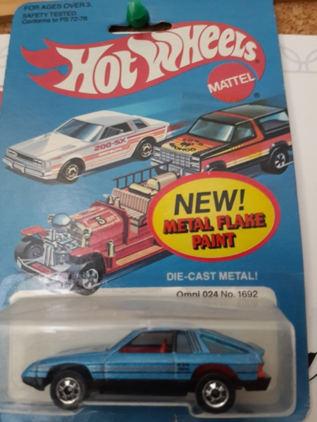 Hot Wheels version of my first car