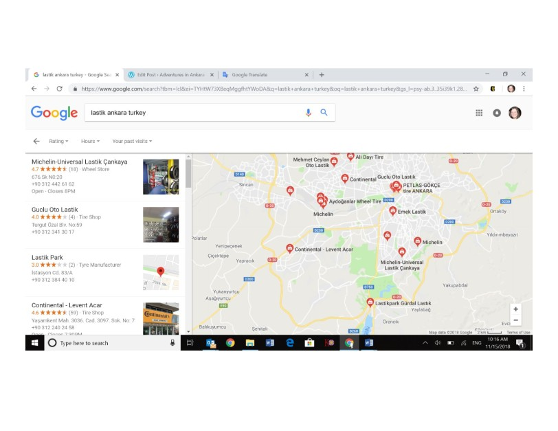 Tire Locations in Ankara